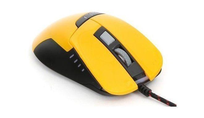 Spēļu pele Platinet Omega Varr OM-270 Yellow, vadu, optiskā