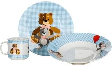 Komplekts Banquet Teddy Tableware Set 3pcs Blue