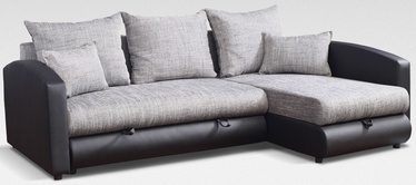 Stūra dīvāns Platan Nina 03 Black/Grey, 235 x 172 x 95 cm