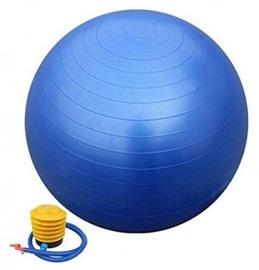Vingrošanas bumba ar sūkni 75cm, zila
