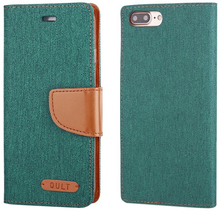 Qult Fancy Book Case For Apple iPhone 7/8 Green/Brown