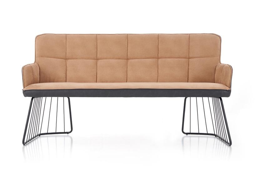 Dīvāns Halmar L1 Light Brown/Black, 165 x 47 x 88 cm