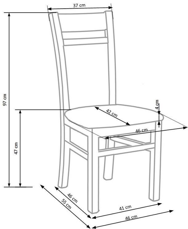 Ēdamistabas krēsls Halmar Gerard 2, brūna/smilškrāsas