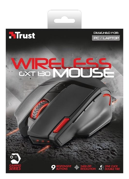 Spēļu pele Trust GXT130 20687, melna/sarkana