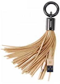 Remax Apple Lightning Data And Charger Cable Designer Key Chain Ring Gold