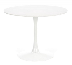 Pusdienu galds Halmar Slim White, 1000x1000x750 mm