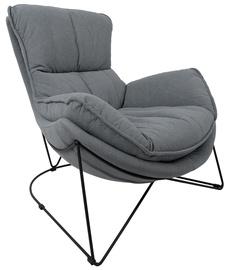 Кресло Home4you Diva 39044, черный/серый, 96 см x 88 см x 84 см