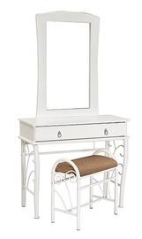 Столик-косметичка Signal Meble 1102 White, с зеркалом