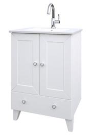Izlietne ar skapīti vannas istabai Raguvos Baldai Siesta 171133126 61,5x46,5x85cm, balta