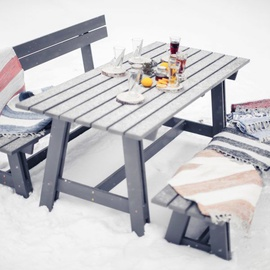 Комплект уличной мебели Folkland Timber Riva, серый, 6 места
