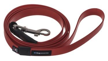 Поводок Dogcessories Leather, красный, 2 м