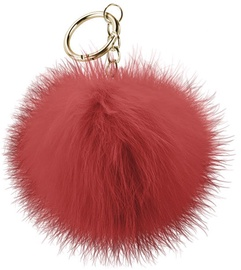Beeyo Soft Fluffy Ring The Pompom & Smartphone Finger Holder Red/Gold