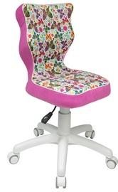 Bērnu krēsls Entelo ST31 White/Pink, 370x350x830 mm