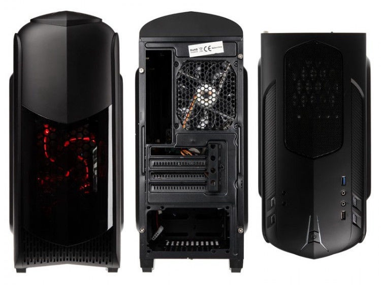 Kolink Micro-ATX Case Aviator M Window Black Red LED