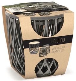 Prosperplast Uniqubo Multifunctional Furniture 3pcs Set Grey