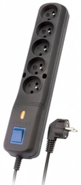 Sprieguma stabilizatori (Surge Protector) Lestar Surge Protector 5 Outlet Black 3 m