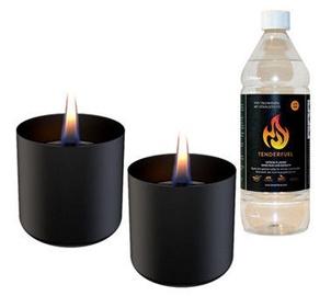 Tenderflame Lilly Table Burner Set 8cm Black