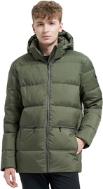 Audimas Puffer Down Jacket Olive Night XL
