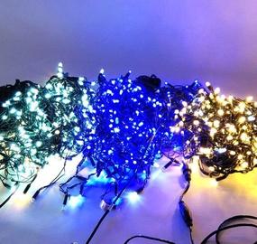 Elektriskā virtene Niveda Outdoor LED 120 White/Blue Flash, 6 m