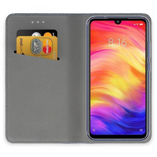 Mocco Smart Magnet Book Case For Xiaomi Redmi Note 7/Note 7 Pro Blue