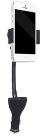 Gembird Car Smartphone Holder With Charger Black