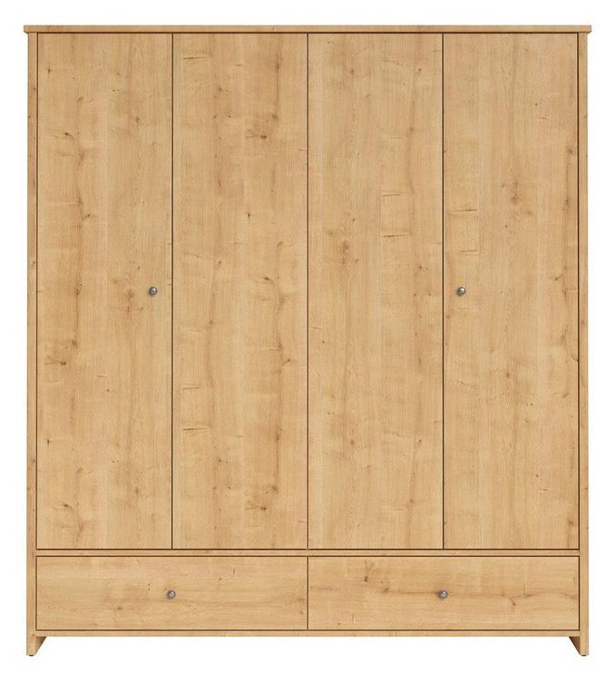 Skapis Black Red White Porto Oak Burlington, 188.5x55.5x209 cm