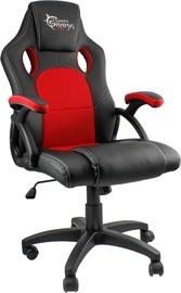 Spēļu krēsls White Shark Kings Throne, melna/sarkana