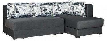 Stūra dīvāns Bodzio Judyta Graphite/London 2, 225 x 155 x 77 cm