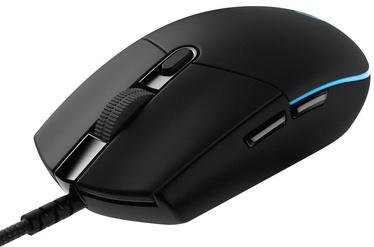 Spēļu pele Logitech G Pro Black/Blue, vadu, optiskā