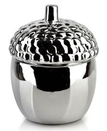 Mondex Gia Decorative Acorn Silver 13cm