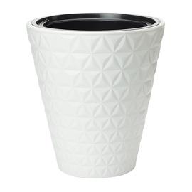 Puķu pods Form Plastic Diamond 2900 D30 011 White