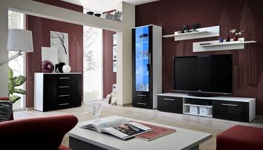Dzīvojamās istabas mēbeļu komplekts ASM Galino B White/Black Gloss