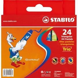 Stabilo Trio Triangular Oil Pastels 24pcs