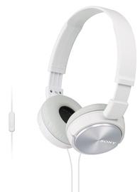 Наушники Sony MDR-ZX310AP, белый