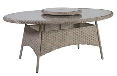 Dārza galds Home4you Pacific Beige, 180 x 120 x 74 cm