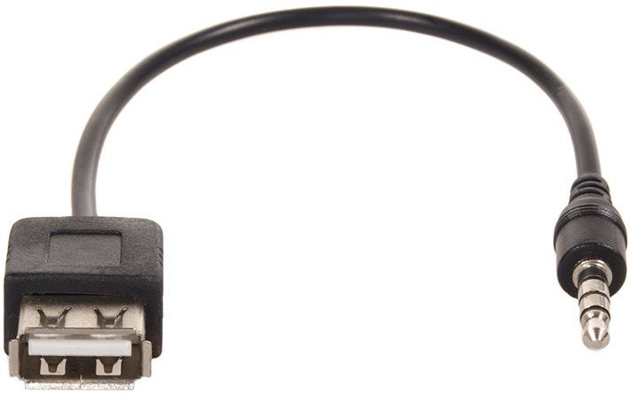 Maclean Plug USB Female To 3.5mm Jack Male 0.23m Black
