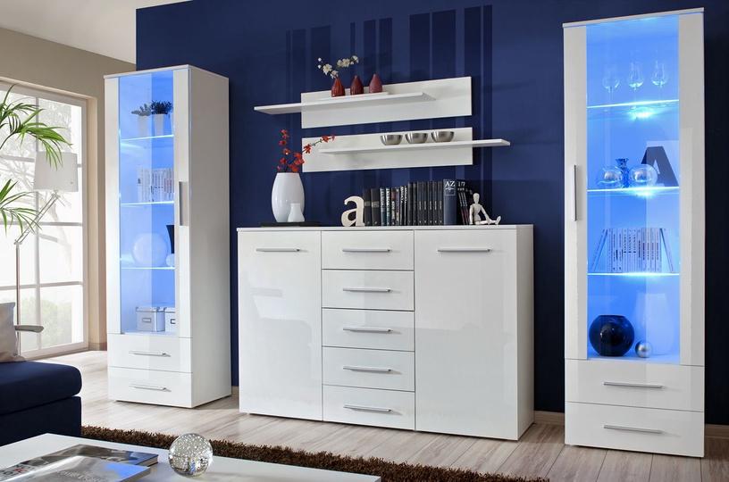Dzīvojamās istabas mēbeļu komplekts ASM Galino D White/White Gloss