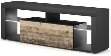 ТВ стол Vivaldi Meble Everest 2, коричневый/серый, 1400x330x505 мм