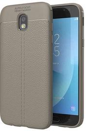 Hurtel Litchi Pattern Back Case For Samsung Galaxy J7 J730 Grey