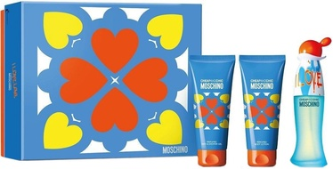 Moschino I Love Love 50ml EDT + 50ml Body Lotion + 50ml Shower Gel