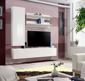 ASM Fly H Living Room Wall Unit Set White/White Gloss