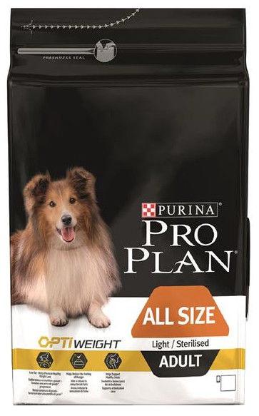 Pro Plan Adult All Size Light Sterilised 3kg