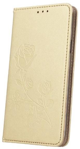Mocco Stamp Rose Magnet Book Case For Apple iPhone 6/6s Gold