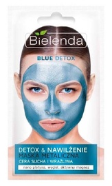 Sejas maska Bielenda Blue Detox Detoxifying Face Mask For Dry And Sensitive Skin, 8 g