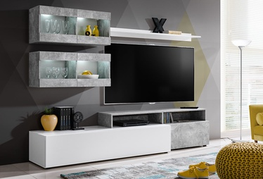 ASM Light Living Room Wall Unit Set White/Grey