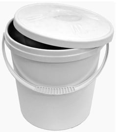 Plast Team Bucket With Lid 30.4x30.4x33.6cm 16l White