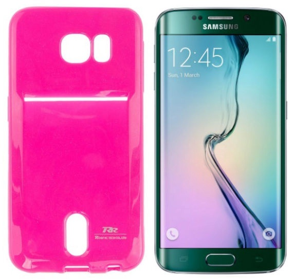 Roar Pocket Jelly Case For Samsung G925 Galaxy S6 Edge Pink
