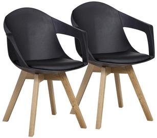 Ēdamistabas krēsls Home4you Stuart Black