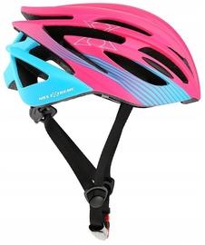 Шлем Nils Extreme MTW24, синий/розовый, 580 - 610 мм