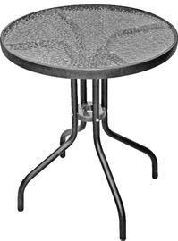 Садовый стол Besk, прозрачный/серый, 60 x 60 x 70 см
